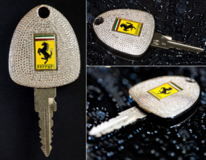 Bejeweled Ferrari Key